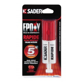 COLLE SADER EPOXY SERINGUE 25 ML PRISE PROGRESSIVE